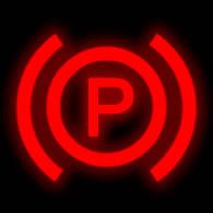 Parking brake dashboard symbol