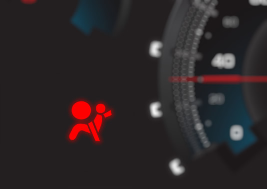 The Airbag Symbol On A Car Dashboard