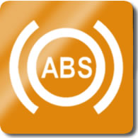 Audi A1 / S1 ABS Dashboard Warning Light Symbol