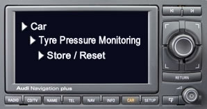 Reset Audi A3 tyre pressure light using the Multimedia Interface (MMI)