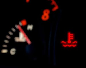 Red temperature engine warning light