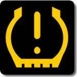 Audi A3 low tyre pressure warning light