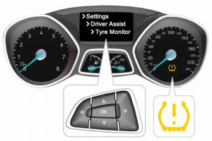 How to reset the Ford Focus tyre pressure warning light