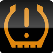 Audi A1 low tyre pressure warning light