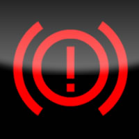 Ford Kuga / Ford Escape Brake (exclamation mark) dashboard warning light symbol