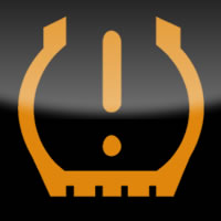 Ford Kuga / Ford Escape low tyre pressure dashboard warning light symbol