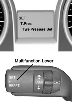Reset Ford Kuga tyre pressure monitor system warning light (MK1)