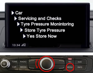 Reset Audi A1 and Audi S1 Tyre Pressure Monitoring System Light