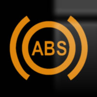 Skoda Octavia antilock brakes (ABS) dashboard warning light symbol