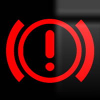 Skoda Octavia exclamation mark (braking system) dashboard warning light symbol