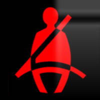 Skoda Octavia seat belt dashboard warning light symbol