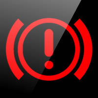 ŠKODA Fabia brake system (exclamation mark) dashboard warning light