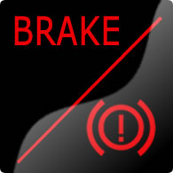 Ford Mondeo / Ford Fusion brake system dashboard warning light symbol
