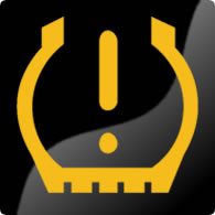 Ford Mondeo / Ford Fusion low tyre pressure dashboard warning light symbol