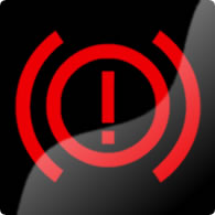Ford Mondeo / Ford Fusion electric parking brake (exclamation mark) dashboard warning light symbol