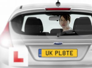 Using the reversing camera on the driving test.