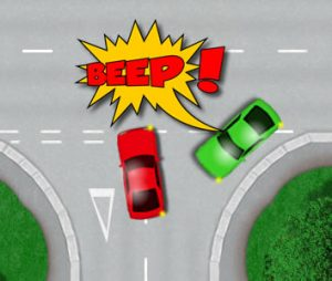Bad road positioning when turning right at a junction