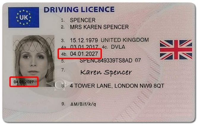 updating a provisional driving licence