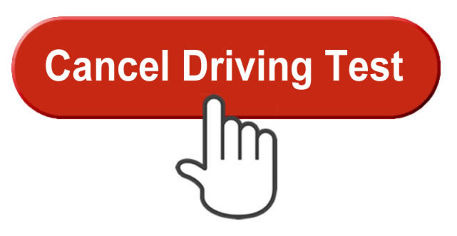 Cancel driving test button