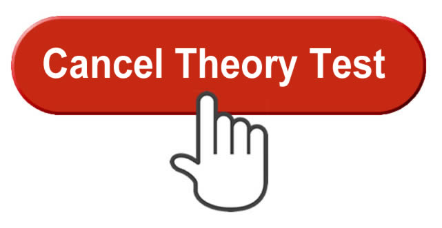 Cancel theory test button