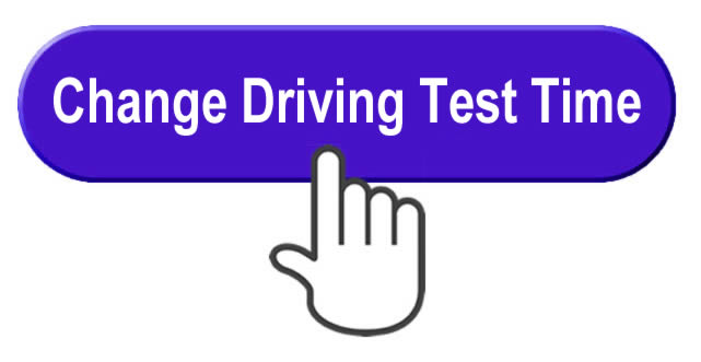 Change your driving test date or time button